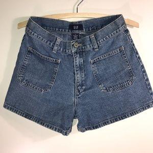 Gap high waist denim shorts